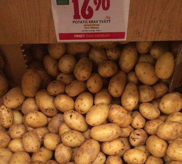 21. Швеция - около седем средни картофа