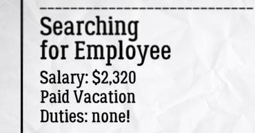 Мечтаната работа - над 2000 долара месечно, за да не правите нищо!